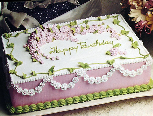 Birthday Cake Ideas And Recipe : Birthday Cake Ideas - Vintage Recipes and Decorating Tips