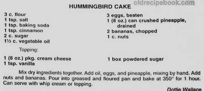 Easy Hummingbird Cake Mix Recipe