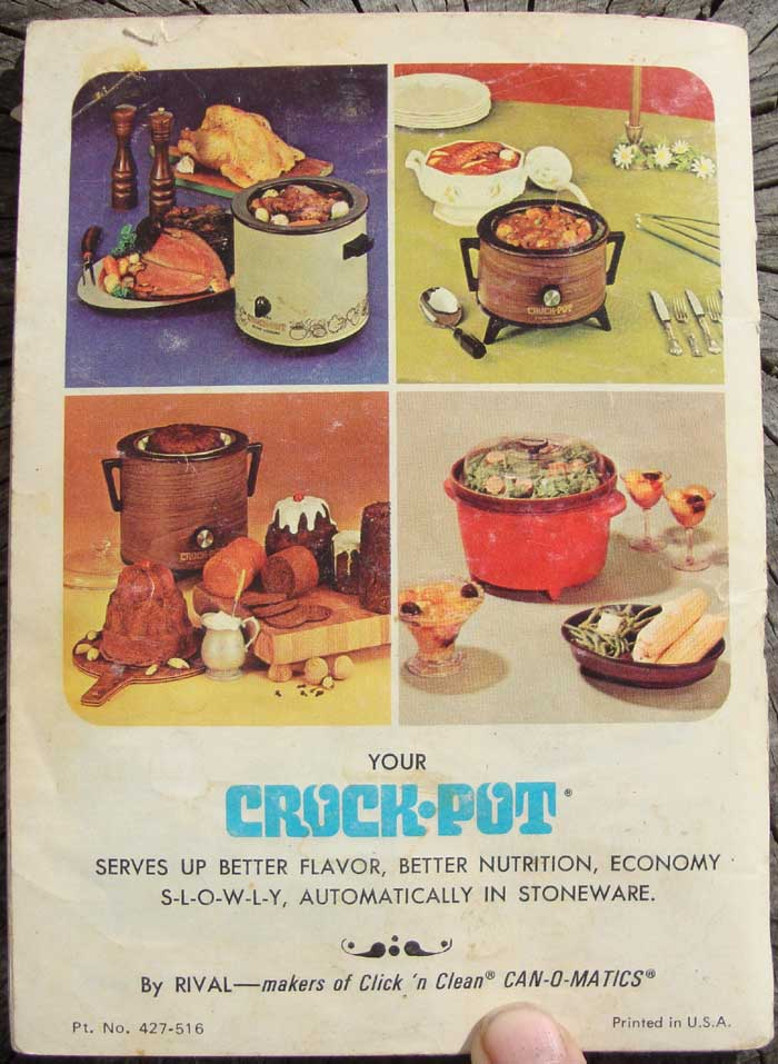 Old Rival Crockpot Recipes and Directions Manual ... |Vintage Recipe Book Crock Pot