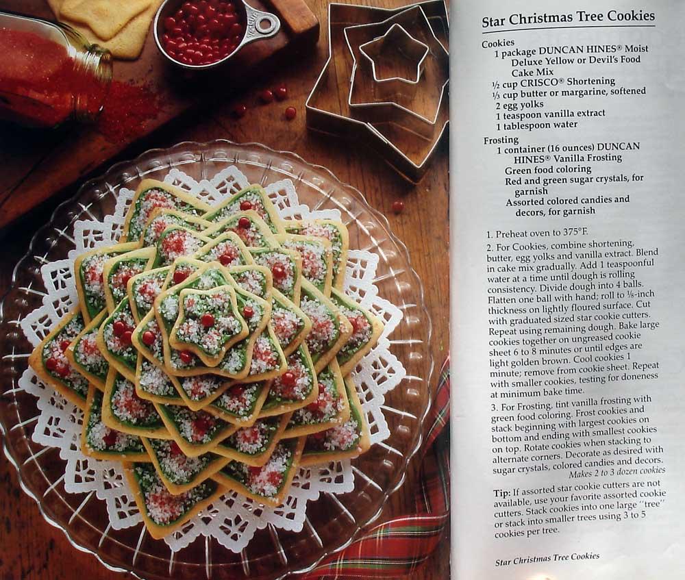 christmas star cookie tree