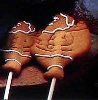 Santa lollipop cookies