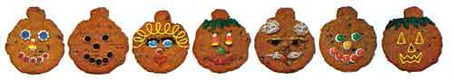 Pumpkin Cookie decorations