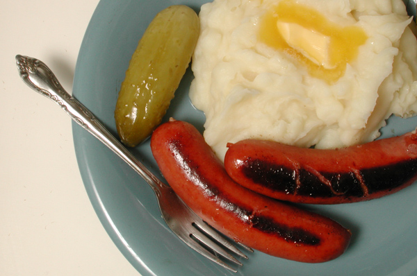 Mashed Potatoes and Hot Dogs