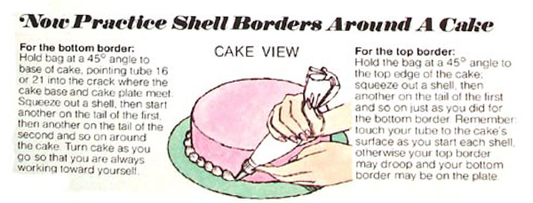 Shell Borders on a Cake