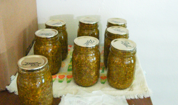 Canned Green Tomato Relish