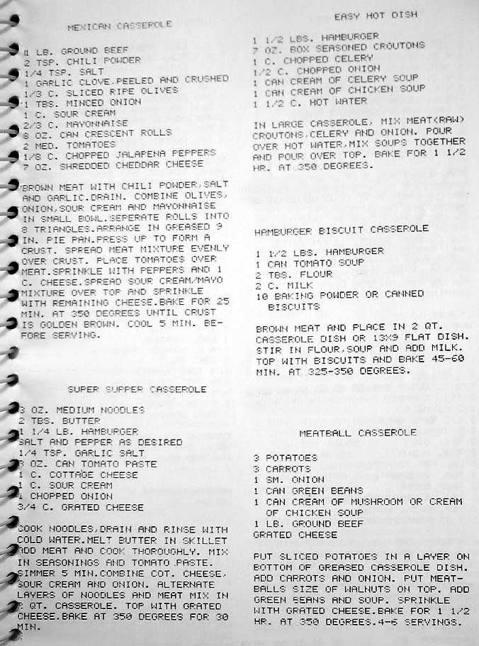 Easy hamburger casserole recipes